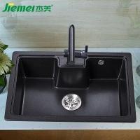 杰美厨房石英石水槽单槽JM308,花岗岩水槽