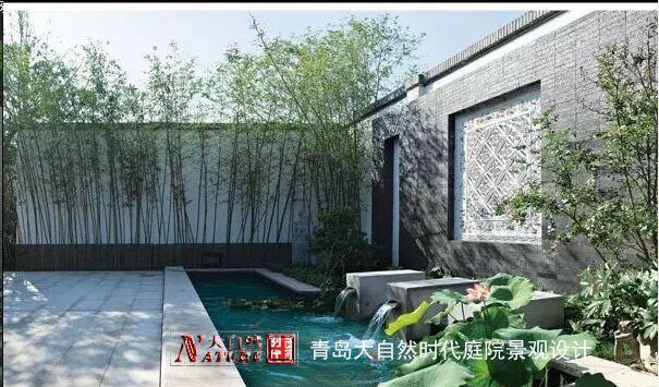 青岛专业中式新中式庭院屋顶花园景观设计施工图片