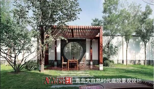 青岛专业中式新中式庭院屋顶花园景观设计施工