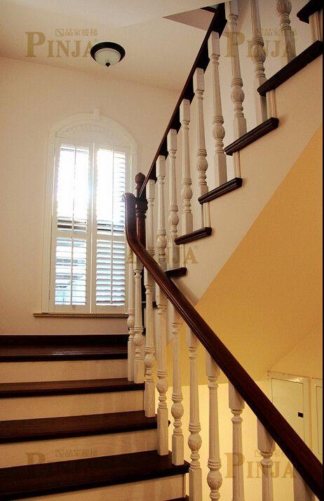 农村别墅经典造型楼梯设计 专业上门测量自建楼梯
