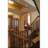 品家楼梯室内实木楼梯_家庭装修循环使用环保木质楼梯