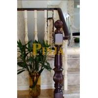 纯木材楼梯_100%原木整根楼梯立柱_橡木本色楼梯设计