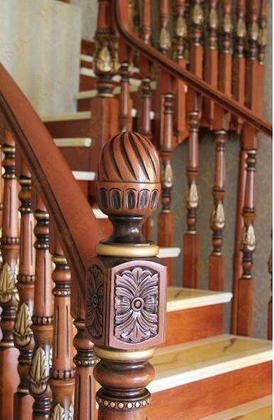 楼房板式楼梯_木梯仿大理石油漆工艺_颜色可选楼梯设计