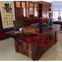老船木办公家具办公桌椅子,沉船木现代中式办公台,实木办公桌子