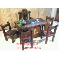 老船木茶桌实木功夫茶几客厅中式泡茶台椅组合实木酒店家具