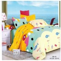 儿童都喜欢的猫咪【纯棉四件套】床上用品 智胜动力家纺