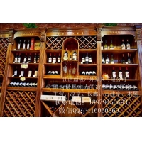 超市木质红酒展示柜酒柜吧台酒吧品酒饮酒吧台