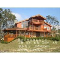 双层重型木屋别墅全木质木屋房子