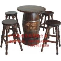 防腐碳化桌椅套件厂家生产直销实木休闲桌椅套件